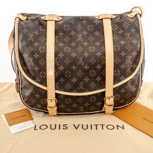LOUIS VUITTON huge Saumur 43 Monogram Bag